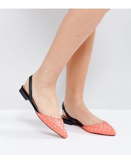 Liar Wide Fit Pointed Ballet Flats