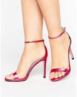Stecy Metallic Pink Barely There Heeled Sandals