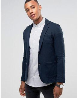 Premium Slim Fit Jersey Blazer