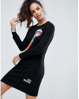Spaceboy Cashmere Wool Mix Sweater Dress