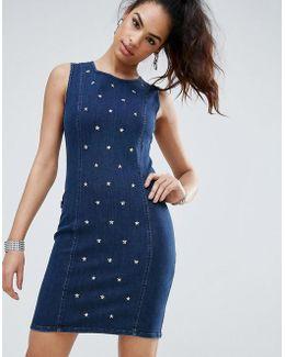 Studded Sleeveless Dress