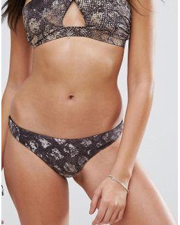 Snake Print Bikini Bottom