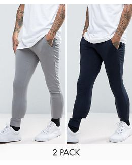 Extreme Super Skinny Joggers 2 Pack Save