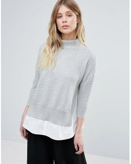 Mozart High Neck Knit Jumper