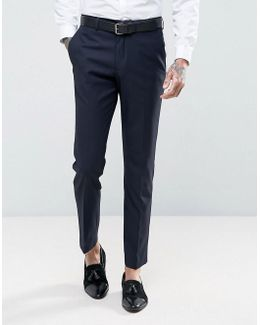 Slim Fit Navy Tuxedo Trousers