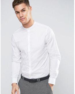 Slim Fit Grandad Collar Shirt