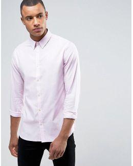 Slim Fit Birdseye Shirt