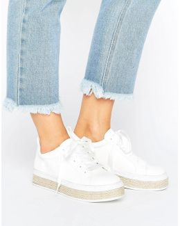 Espadrille Lace Up Sneaker