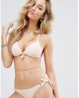 Crochet Molded Triangle Bikini Top