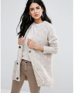 Boucle Alpaca Wool Mix Knit Cardigan