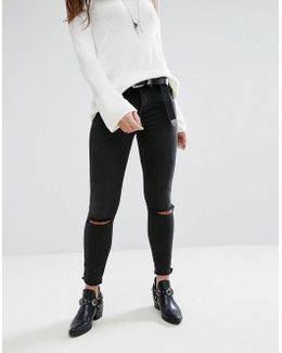 Peyton Studded High Rise Skinny Jeans