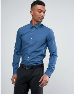 Super Skinny Smart Shirt With Stretch