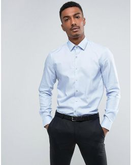 Skinny Smart Shirt With Stretch In Houndstooth