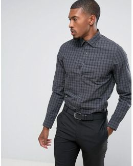 Skinny Smart Shirt With Stretch In Check