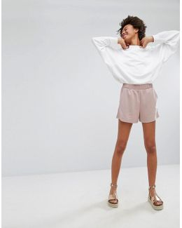 Cupro Relaxed Shorts