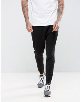 Drop Crotch Joggers In Lightweight Jersey