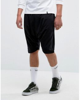 Extreme Drop Crotch Shorts In Lightweight Jersey