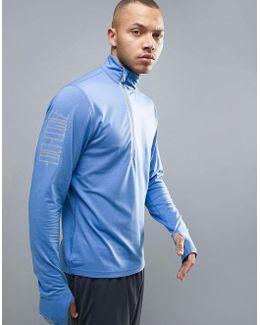 Running Nightcat Powerwarm 1/4 Zip Sweat In Blue 51438002