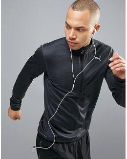 Running 1/4 Zip Sweat In Black 51382605