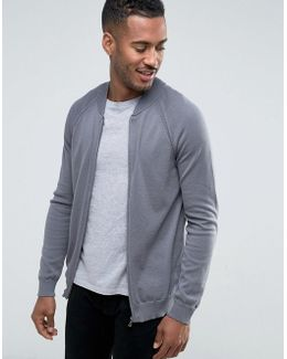 Knitted Bomber In Easy Care