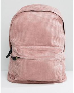 Backpack In Pink Cord