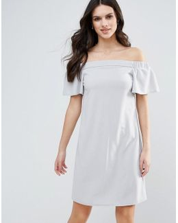 Bandeau Frill Detail Shift Dress