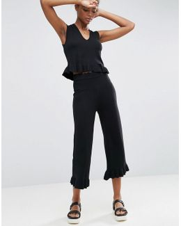 Co-ord Culotte With Frill Hem