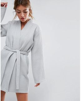 Waffle Hotel Robe In 100% Cotton
