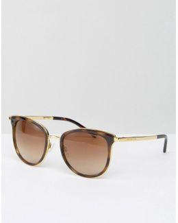 Classic Cateye Sunglasses In Tortoise