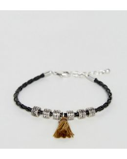 Black Bracelet With Tassel