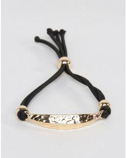 Smart Bracelet With Hammered Metal Finish