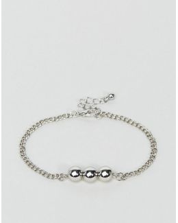 Bracelet With Ball Detail In Silver