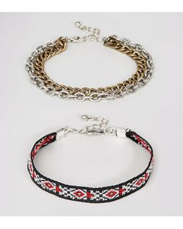 Geo- And Chain Bracelet Pack