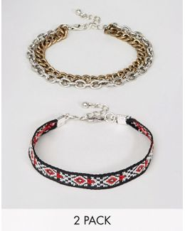 Aztec And Chain Bracelet Pack