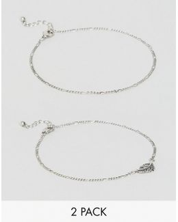 Anklet Pack With Feather