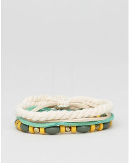 Bracelet Pack With Beads And Rope