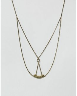 Necklace With Double Layer In Gold