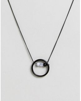 Necklace With Circle Bead Pendant