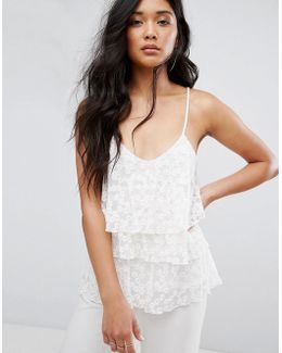 Layered Lace Cami Top