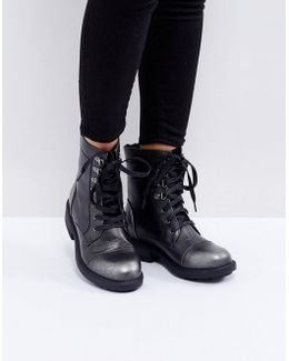 Worker Lace Up Ankle Boots