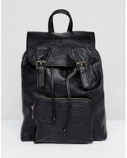 Buckle Front Soft Look Backpack