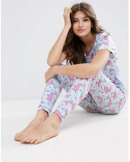 Sea Unicorn Tee & Legging Pyjama Set