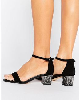 Marcee Suede Mid Jewel Heel Sandal