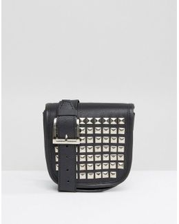 Real Leather Studded Fanny Pack
