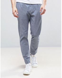Chino In Stretch Tapered Fit With Pleats