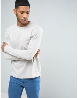 Sweatshirt With Marl Fleck Detail