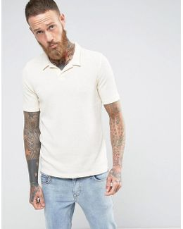 Polo Shirt In Towelling Fabric