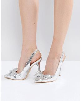 Harty Bow Heeled Pumps