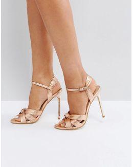 Hollie Rose Gold Heeled Sandals