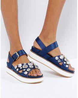 Soiree Embellished Stacked Sandals